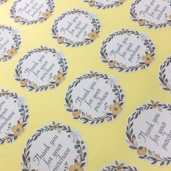 Woodfree Matt Sticker